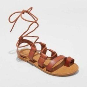 Universal Thread Paige Gladiator Sandals Cognac 7